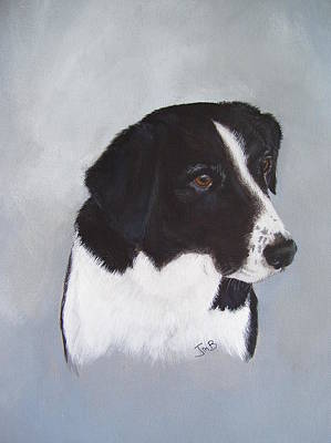 Dog Painting - Sam by Janice M Booth
