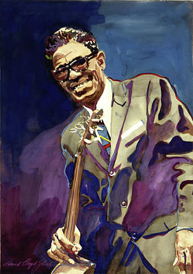 Sam Lightnin Hopkins Art Print by David Lloyd Glover