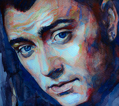Painting - Sam Smith Captured In Watercolor by Laur Iduc