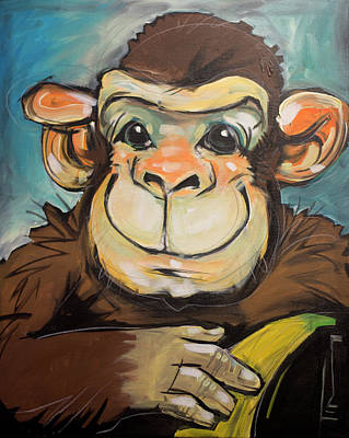 Bananas.ape Painting - Sam The Monkey by Tim Nyberg