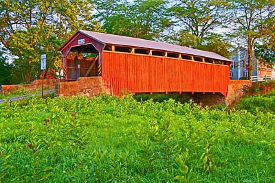 Photograph - Sam Wagner Covered Bridge by Michael Porchik