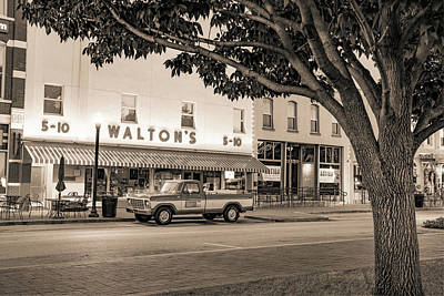 Photograph - Sam Walton 1979 Ford F-150 Custom Truck - Bentonville Arkansas - Sepia by Gregory Ballos