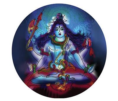 Painting - Samadhi Shiva by Guruji Aruneshvar Paris Art Curator Katrin Suter