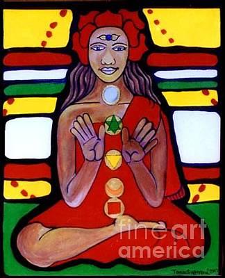 Visionary Painting - Samahdi by Tania Guerrera