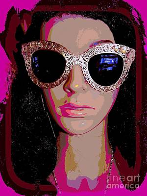 Digital Art - Samantha In Shades by Ed Weidman