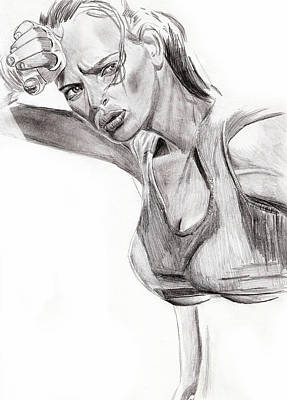 Drawing - Samantha by Michael McKenzie
