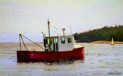 Digital Art - Sambro Fishing Boat by Ken Morris