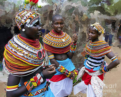 Samburu Beauties Original by Morris Keyonzo