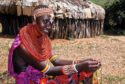 Beadwork Photograph - Samburu Beauty by Michele Burgess
