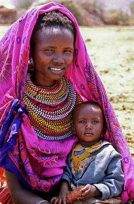 Beadwork Photograph - Samburu Madonna by Michele Burgess