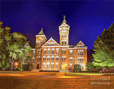Photograph - Samford Hall At Night by Tommy Patterson