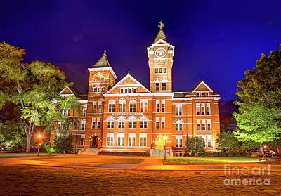 Photograph - Samford Hall - Auburn by Gulf Coast Aerials -