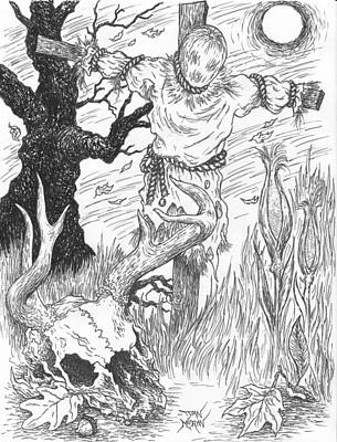 Drawing - Samhain by Dan Moran