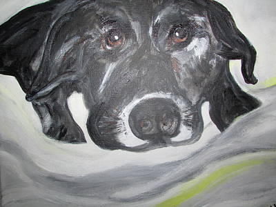 Painting - Sweet Sami Black Lab by Debby Reid