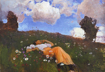 Landscape Painting - Sami In The Meadow by Celestial Images
