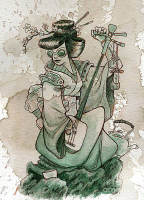 Samisen Art Print by Brian Kesinger