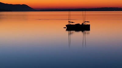 Photograph - Samish Sea Sunset by Tony Locke