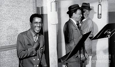 Frank Sinatra Photograph - Sammy Davis Jr., Frank Sinatra And Dean Martin At Capitol Records Studios by The Titanic Project