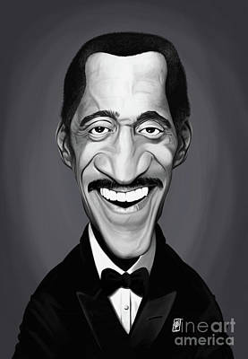 Art Print featuring the digital art Celebrity Sunday - Sammy Davis Jnr by Rob Snow