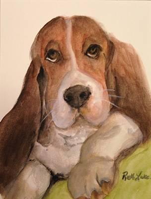 Listener Painting - Sammy, Let's Talk  by Ruth Luke