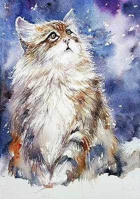 Painting - Sammy On Snow by Arti Chauhan