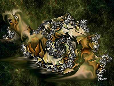 Sammy Snail Art Print by Julie Grace