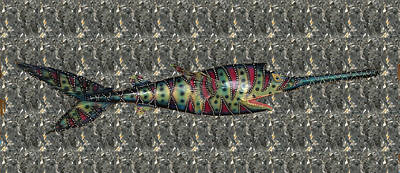 Mixed Media - Sammy The Sawfish by Dan Townsend