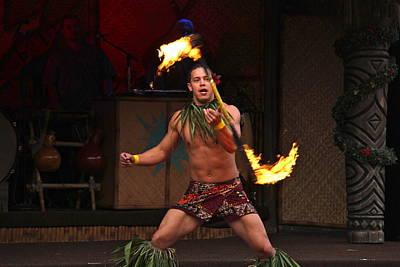 Samoan Fire Dance Art Print by Denise Mazzocco