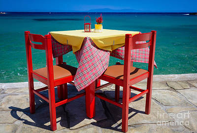 Photograph - Samos Table by Inge Johnsson