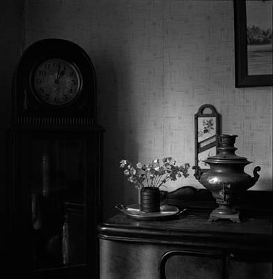 Samovar Photograph - Samovar And Grandfather Clock by Evgeny Govorov