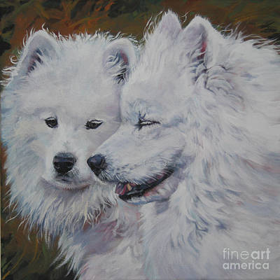 Painting - Samoyed Conversation by Lee Ann Shepard