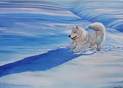 Painting - Samoyed by Michelle Miron-Rebbe
