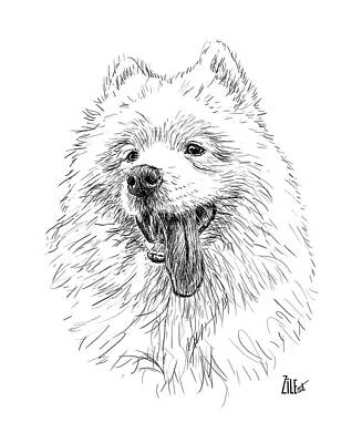 Digital Art - Samoyed @snow_samoiedaaventureiro by ZileArt