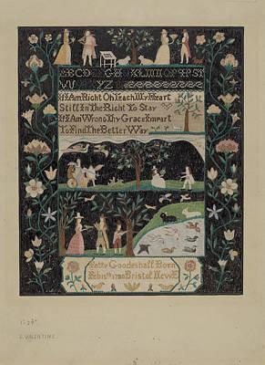 Pretty Quilts Drawing - Sampler by Elizabeth Valentine