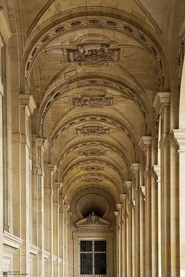 Photograph - Sampling The Gateways And The Hallways Of The Louvre - 2 by Hany J