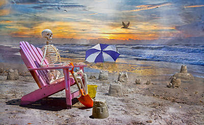 Surrealism Royalty-Free and Rights-Managed Images - Sams  Sandcastles by Betsy Knapp