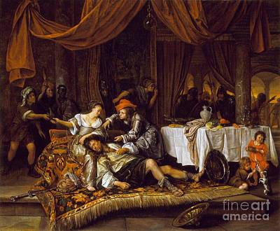 Steen Painting - Samson And Delilah by Celestial Images
