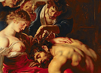Samson And Delilah Print by Rubens