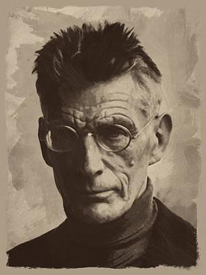 Samuel Painting - Samuel Beckett 1 by Afterdarkness