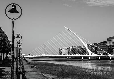 Photograph - Samuel Beckett Bridge Dublin Bw #2 by Lexa Harpell