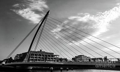 Photograph - Samuel Beckett Bridge Dublin Bw #4 by Lexa Harpell