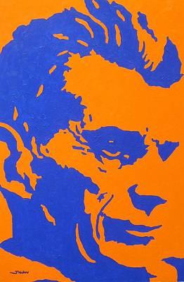 Literature Painting - Samuel Beckett by John  Nolan
