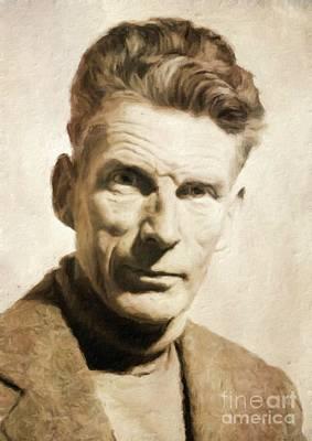 Samuel Beckett, Literary Legend By Mary Bassett Art Print