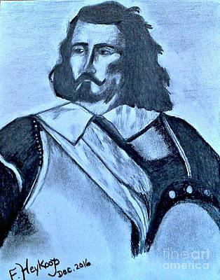 Drawing - Samuel De Champlain by Francine Heykoop