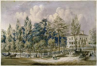 1850s Painting - Samuel Fleet Homestead by Flora Palmer