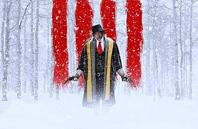 David Drawing - Samuel L Jackson The Hateful Eight by Movie Poster Prints