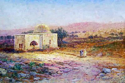 Painting - Samuel Lawson Tomb Of Rachel 1900 by Munir Alawi
