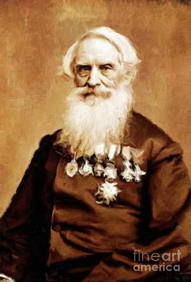 Samuel Morse, Inventor And Painter, By Mary Bassett Art Print by Mary Bassett