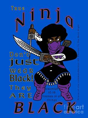 Digital Art - True Ninja by Robert Watson