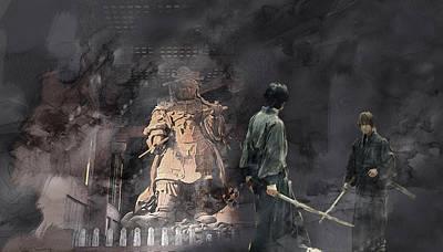 Artwork Painting - Samurai 0015415 by Jani Heinonen